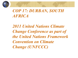 The United Nations Framework Convention on Climate