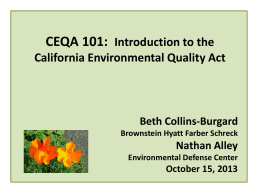 PPT CEQA 101 Introduction to California Envrionmental Quality Act