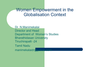 Impact of Globalisation on Women in India