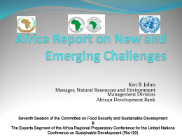 Africa Report on New and Emerging Challenges