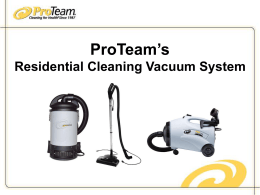 Improve Residential Cleaning with ProTeam - Pro