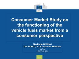 Consumer Market Study on the functioning of