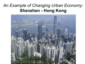 An Example of Changing Urban Economy: Shenzhen