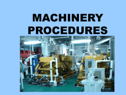 Machinery Procedures