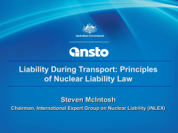 Principles of Nuclear Liability Law