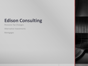Edison Consulting - Pensions Tax Changes, Alternative Investments