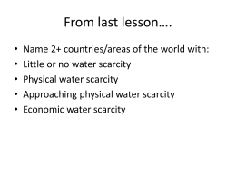 lesson 3 water - SLC Geog A Level Blog