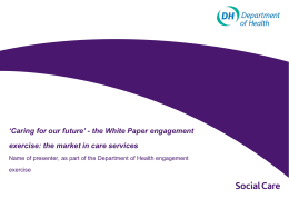 Key White Paper issues on developing diverse markets