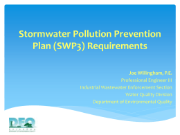 SWP3 Requirements - the Oklahoma Department of Environmental