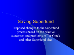 Saving Superfund