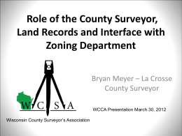 Role of County Surveyor, Land Records and Zoning