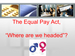 Equal Pay Act - EEOC Presentation