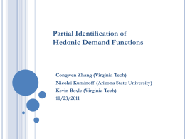 Partial Identification of Hedonic Demand Function