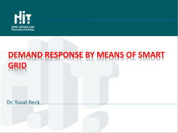 Demand response by means of Smart grid