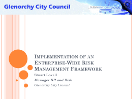 Implementation of an Enterprise-Wide Risk Management Framework