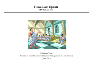 Fiscal Law Issues in Real Property Transactions