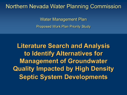Spanish Springs Valley Nitrate Remediation Pilot Project