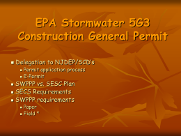 EPA Stormwater 5G3 Construction General Permit
