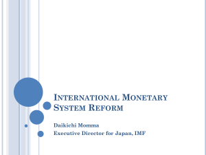 Panel 4, Daikichi Momma | International Monetary System Reform
