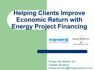 Energy Tax Savers, Inc. EPAct Presentation