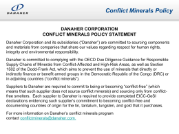 Conflict Minerals Policy Statement