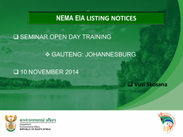 Listing Notices Vusi 2014 EIA_ Regulations 1