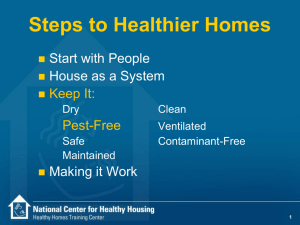 Steps to Healthier Houses
