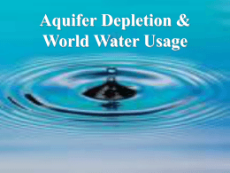 Aquifer Depletion & World Water Usage
