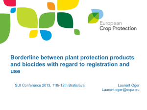 Borderline between PPP and biocides