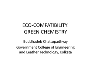 ECO-COMPATIBILITY: GREEN CHEMISTRY