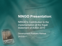 6. NINGO Presentation - Rwanda Development Partners