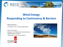 Wind energy policy at the European, national and