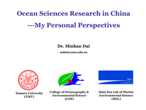 Xiamen University - Centers for Ocean Sciences Education Excellence