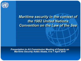 Maritime Security the Context