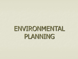 TOPIC 9 ENVIRONMENTAL PLANNING