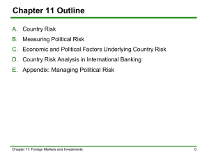 11.C Economic and Political Factors Underlying Country Risk