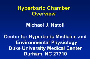 Hyperbaric Chamber Overview 2014