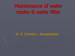 Maintenance of drinking water supply system