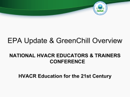 EPA GreenChill - HVAC Excellence