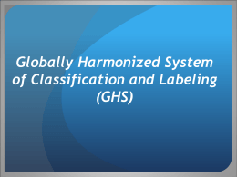 Globally Harmonized System of Classification and Labeling