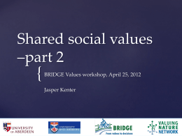 Shared social values –part 2