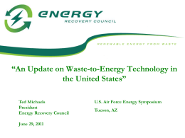 Waste-to-Energy (WTE)