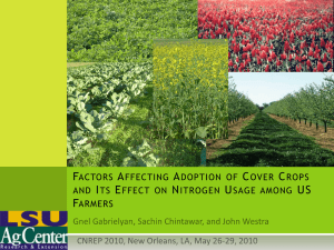 Factors affecting cover crop adoption