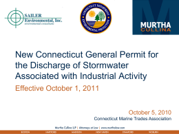 CMTA Powerpoint on New Stormwater General Permit