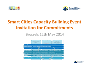 Smart Cities Capacity Building Event Invitation for