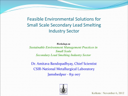 Sustainable Environment Management Practices in Small Scale