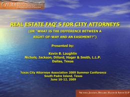 Real Estate FAQ - Nichols, Jackson, Dillard, Hager & Smith. LLP