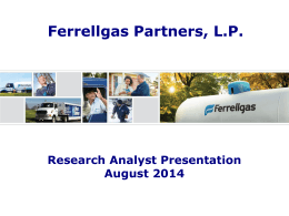 Research Analyst Presentation, August 2014