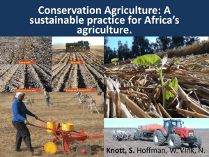 A sustainable practice for Africa`s agriculture.