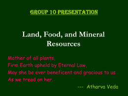Land, Food, and Mineral Resourses